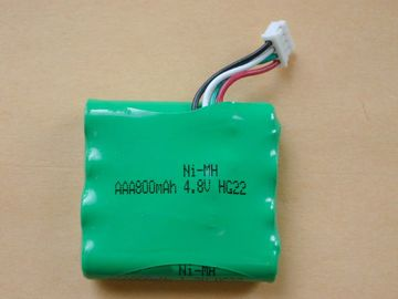 Cina Walkie Talkie Nimh Battery Packs 4.8V, Baterai AA2300 800mAh Distributor